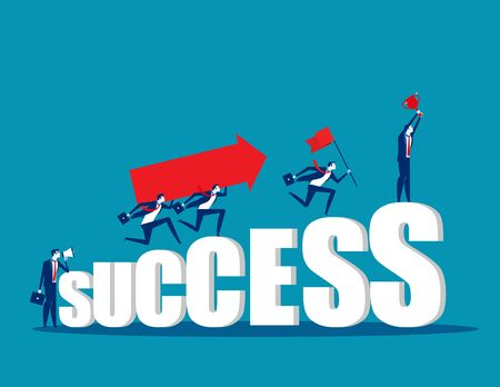 Business teamwork togetherness. Concept business vector. Growth, Success, Achievement.