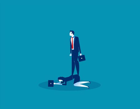 Boss oppressive employee. Concept business vector, Employment and labor,  Obliged, Expression. Ilustracja