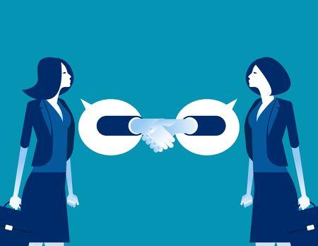 Partner business agreement successful. Concept business vector, Achievement, Team, Handshake. Ilustrace
