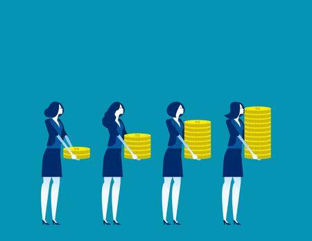 investor and profit. Concept buisness vector illustration, Investment, Financial, Growth Ilustração