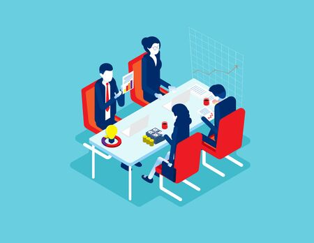 Business and Financial advisor. Concept business vector illustration, Meeting, Data, advice. Ilustrace