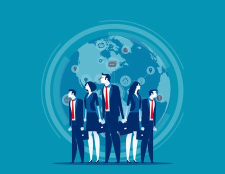 Business globe network. Concept business vector illustration, Finance and industry, Teamwork, Marketing partner. Stock fotó - 133931612