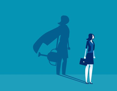 Business person and the vision with success. Concept business vector illustration, Achievement, Successful.