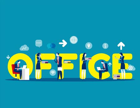 Business modern people. Concept buisness vector illustration, Group of people, Flat business character style, Lifestyles