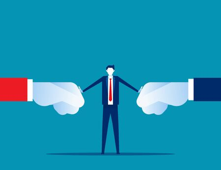 Resolución de conflictos de organización. Ilustración de vector de solución de negocio de concepto, problema, lucha.