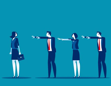 Business followers. Concept business marketing vector, Flat busines cartoon style design Vektoros illusztráció