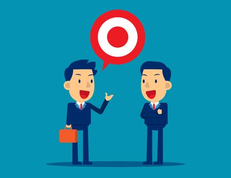 Investor talking for describe the investment success.Investiture business concept, Cute business cartoon character vector design