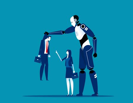 Artificial intelligence technology competition. Concept business technology futuristic vector illustration. Automation