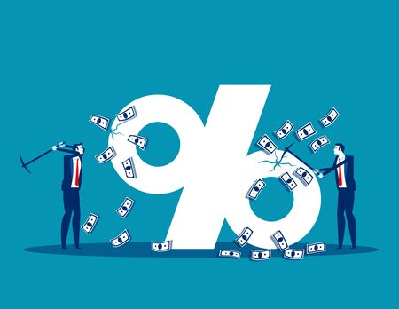 Economy market inflation. Concept business finance and economy,  Investment, Profit