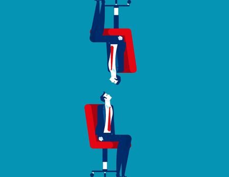 Differences between human. Concept business person vector illustration, Watching, Upside Down