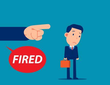Unemployment crisis and job reduction. Dismissed person concept Vektorové ilustrace