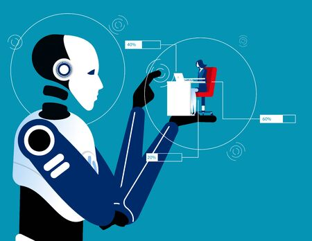 4th industrial revolution. New technology concept, Artificial intelligence