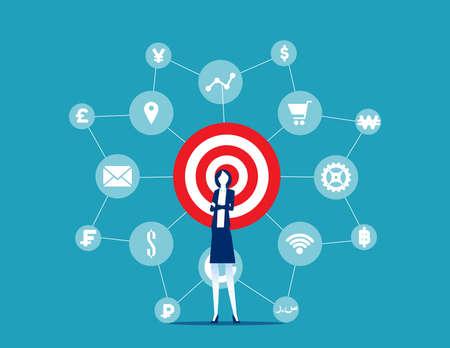 Leader network or multi level marketing concept Vektoros illusztráció