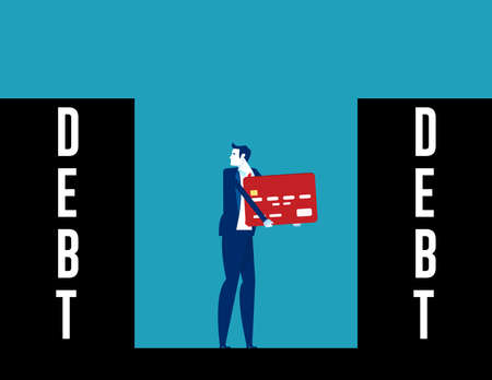 People with expenses and debt all direction. Finance and industry
