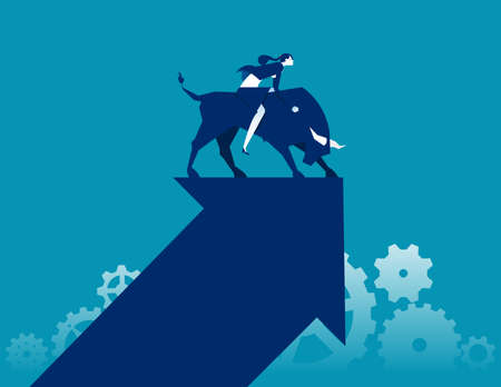 Bull market. Stock market and exchange concept
