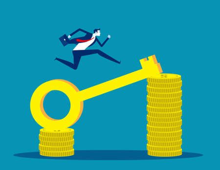 Businessmen earn more money. Investment key successful
