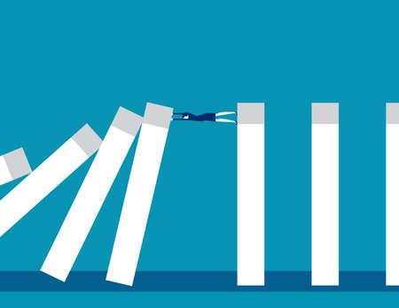 Dominoes falling bar graph Demonstrate Economic crisis