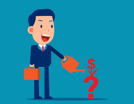The Financial planning. Business finance symbol concept Illusztráció
