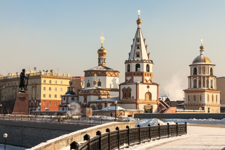 siberia: View of the city of Irkutsk, Orthodox churches  Built in the early nineteenth century  Siberia, Russia