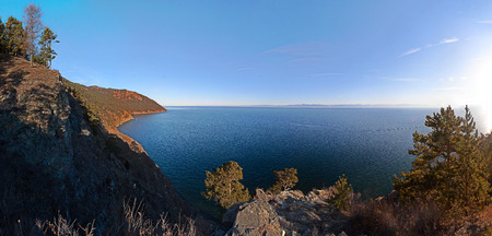 listvyanka: View of Lake Baikal from a hill near Listvyanka  18MP