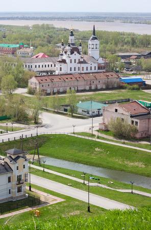 birds eye: Birds eye view of Tobolsk city in Russia