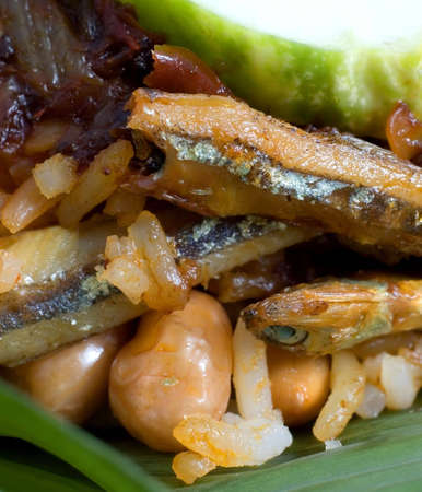 lemak: nasi lemak or Malaysian coconut milk rice