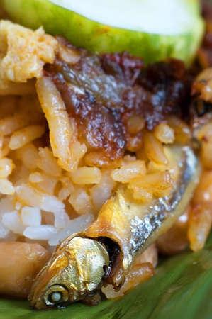lemak: nasi lemak or malaysian coconut-milk rice