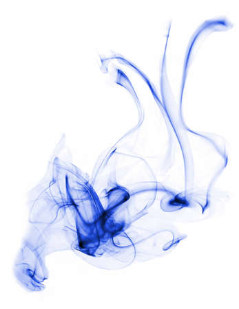 asymmetry: blue color smoke with white back hround
