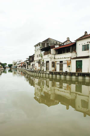 melacca: scenary of melaka river and ancient buildings in Malaysia