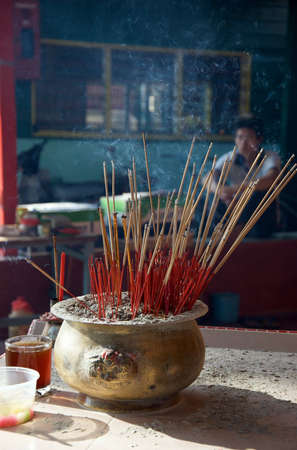 Chinese traditional joss stick or incense photo