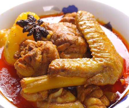 chicken curry: Traditionelle w�rzige Curry-Huhn Nahaufnahme