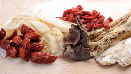 chinese medical: Chinese traditional herbs or medicine close up
