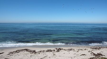 Panoramic Pacific ocean view from La Jolla, San Diego California photo