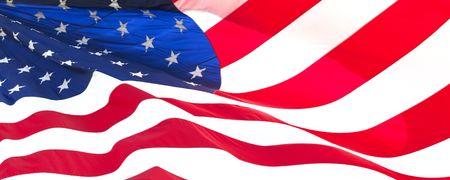 Foto van de Amerikaanse vlag wappert in de wind  Stockfoto - 5987486