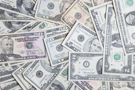Mix of US paper money  photo