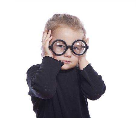 Kleine mooie funny girl  Stockfoto