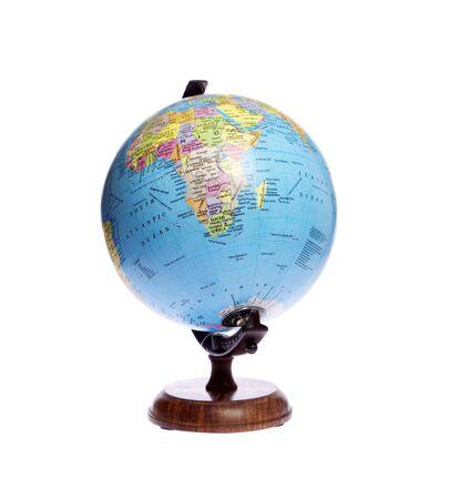Globus on white isolated Zdjęcie Seryjne