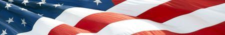 Foto van Amerikaanse vlag wappert in de wind