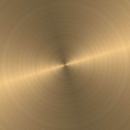 Het patroon van de goud geborsteld metaal plaat Stockfoto