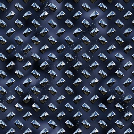 3d diamond plate metal seamless surface background texture Imagens - 6218006