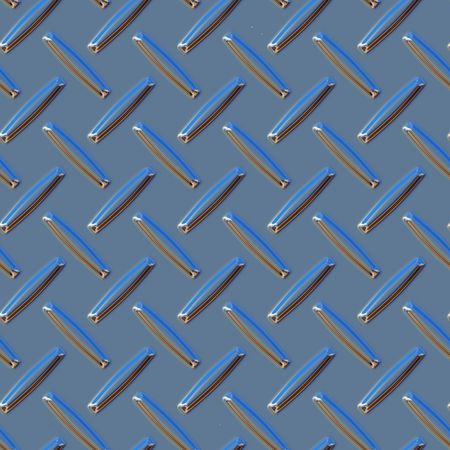 3d diamond plate metal seamless surface background texture