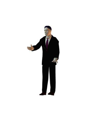 3D illustration of businessman
