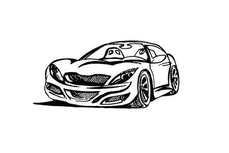 Illustration of dream car