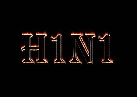 Swine flu virus H1N1 flame illustration Stock Illustration - 6250152