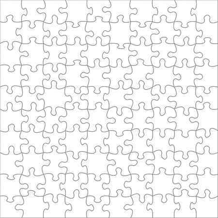 Illustration of blank puzzles