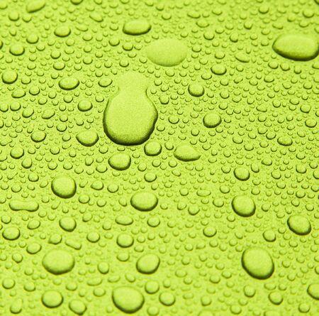 shiny background: Raindrops on metallic surface