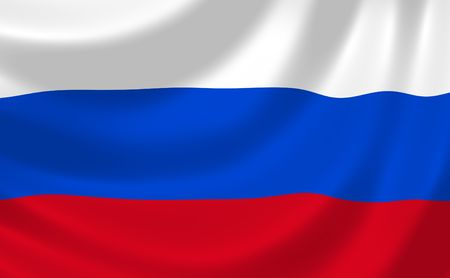 바람에 흔들리는 러시아 연방의 국기