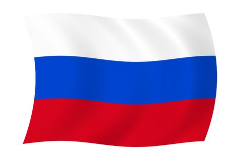 waiving: Flag of Russian Federation waiving in the wind