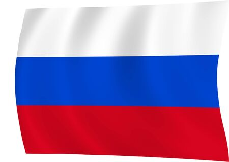 czar: Flag of Russian Federation waiving in the wind