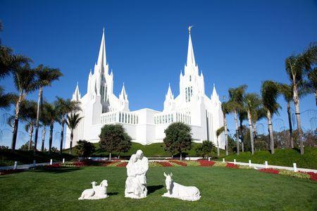 Tempel van de kerk van Jezus Christus van de heiligen (LDS) of de Mormonen in San Diego Stockfoto - 6250227